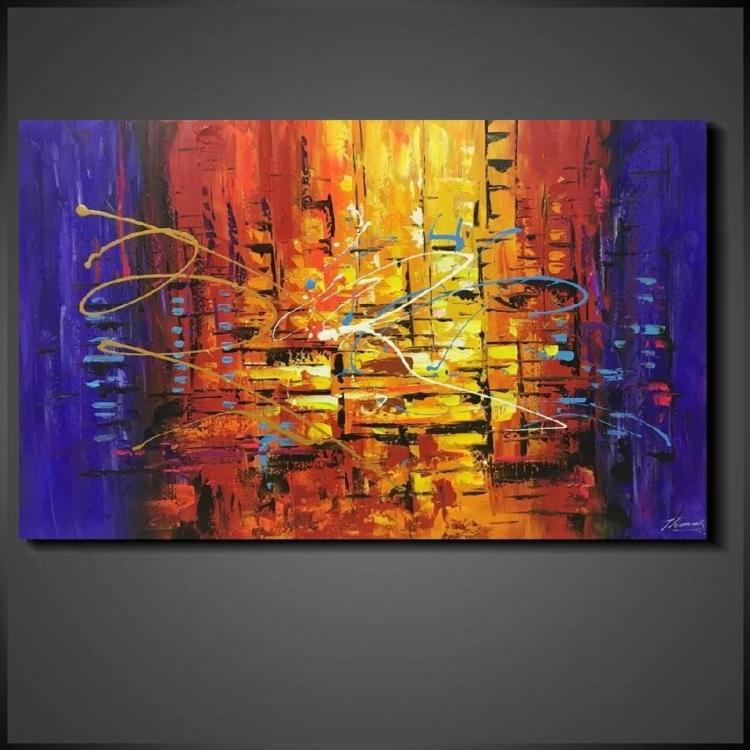 Stora abstrakt tavla